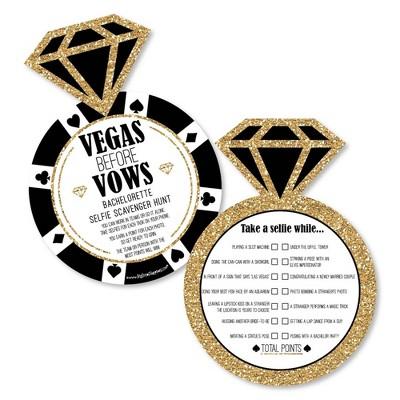 Big Dot of Happiness Vegas Before Vows - Selfie Scavenger Hunt - Las Vegas Bridal Shower or Bachelorette Party Game - Set of 12
