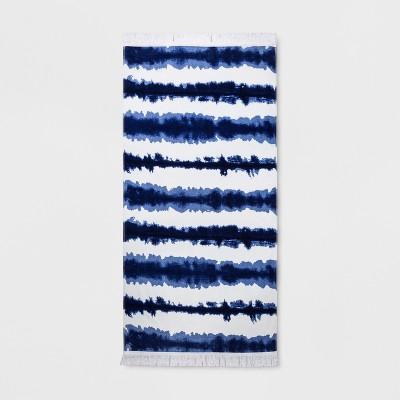 XL Tie Dye Beach Towel Blue - Opalhouse™