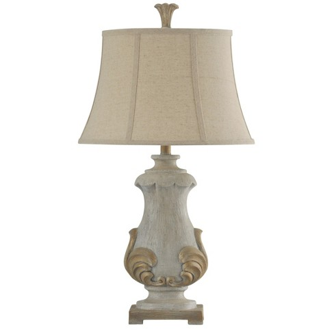 Chrystal Cream Table Lamp with Beige Softback Fabric Shade  - StyleCraft - image 1 of 1