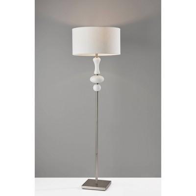 Natalie Floor Lamp Silver - Adesso