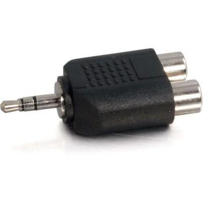 C2G 3.5mm Stereo Male to Dual RCA Female Audio Adapter - 2 x RCA Female - 1 x Mini-phone Male - Black