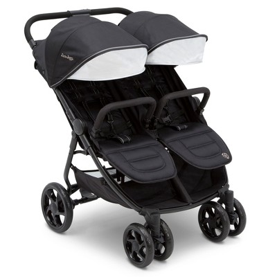 Jeep Destination Ultralight Side x Side Double Stroller by Delta Children - Midnight Black