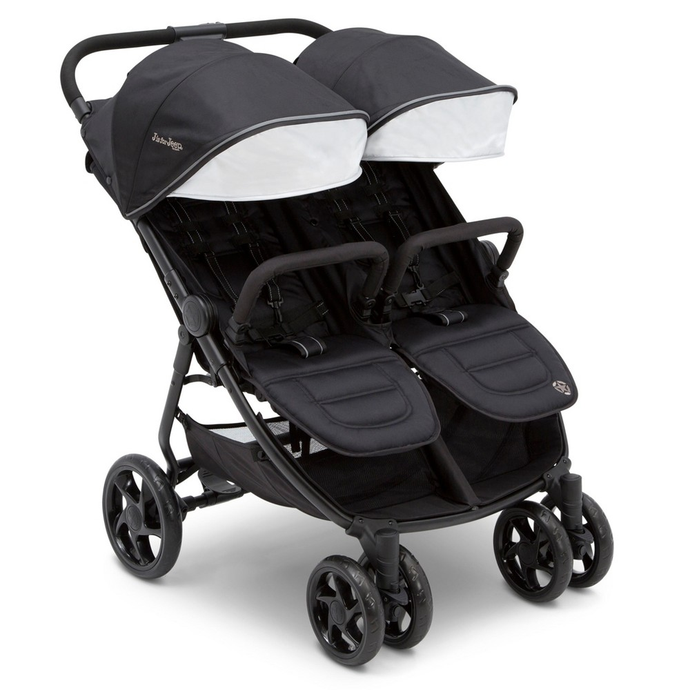 Image of Jeep Destination Ultralight Side x Side Double Stroller by Delta Children - Midnight Black