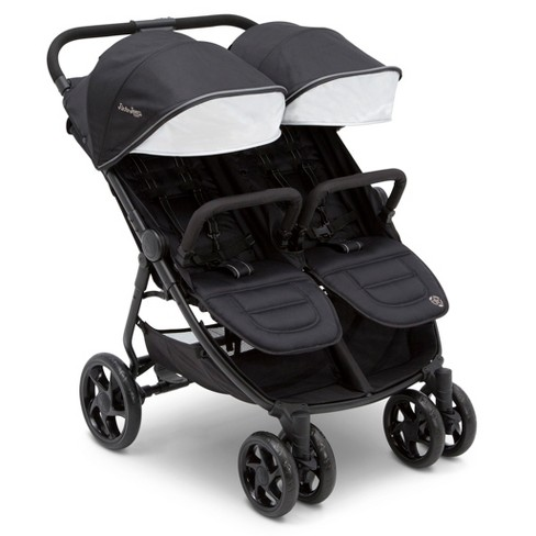 J is for Jeep Brand Destination Ultralight Side x Side Double Stroller - Midnight Black - image 1 of 10
