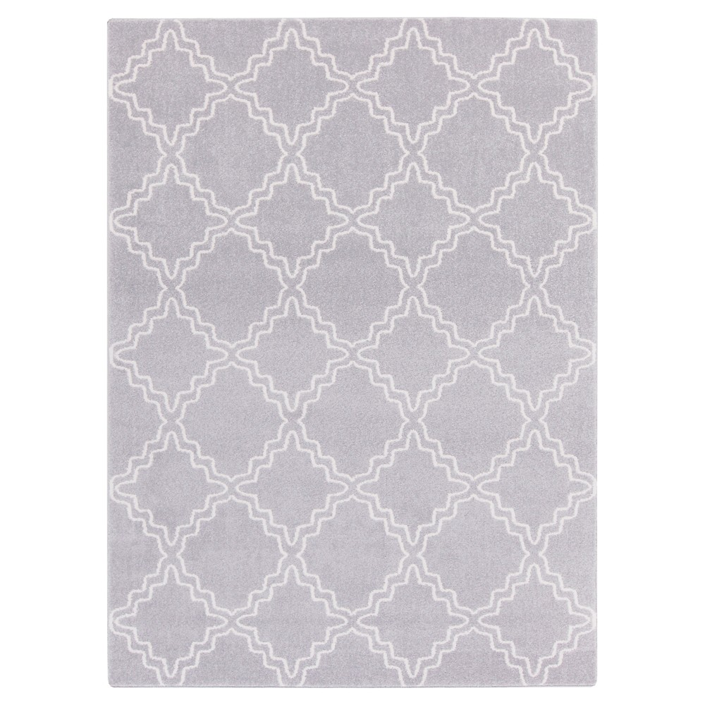 Gray Abstract Tufted Area Rug - (9'3X13') - Surya, Medium Gray
