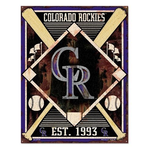 MLB Colorado Rockies Metal Sign - image 1 of 1