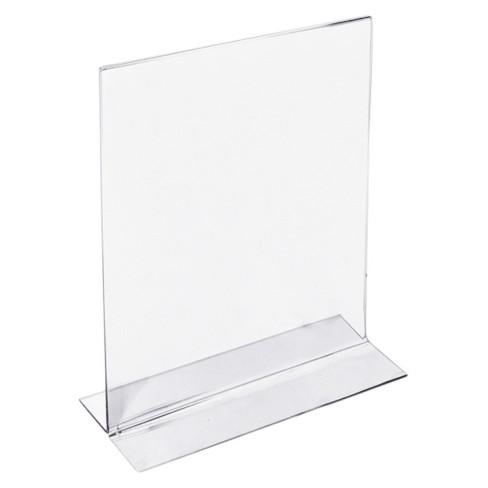 azar 5 x 7 double foot acrylic sign holder 10ct target