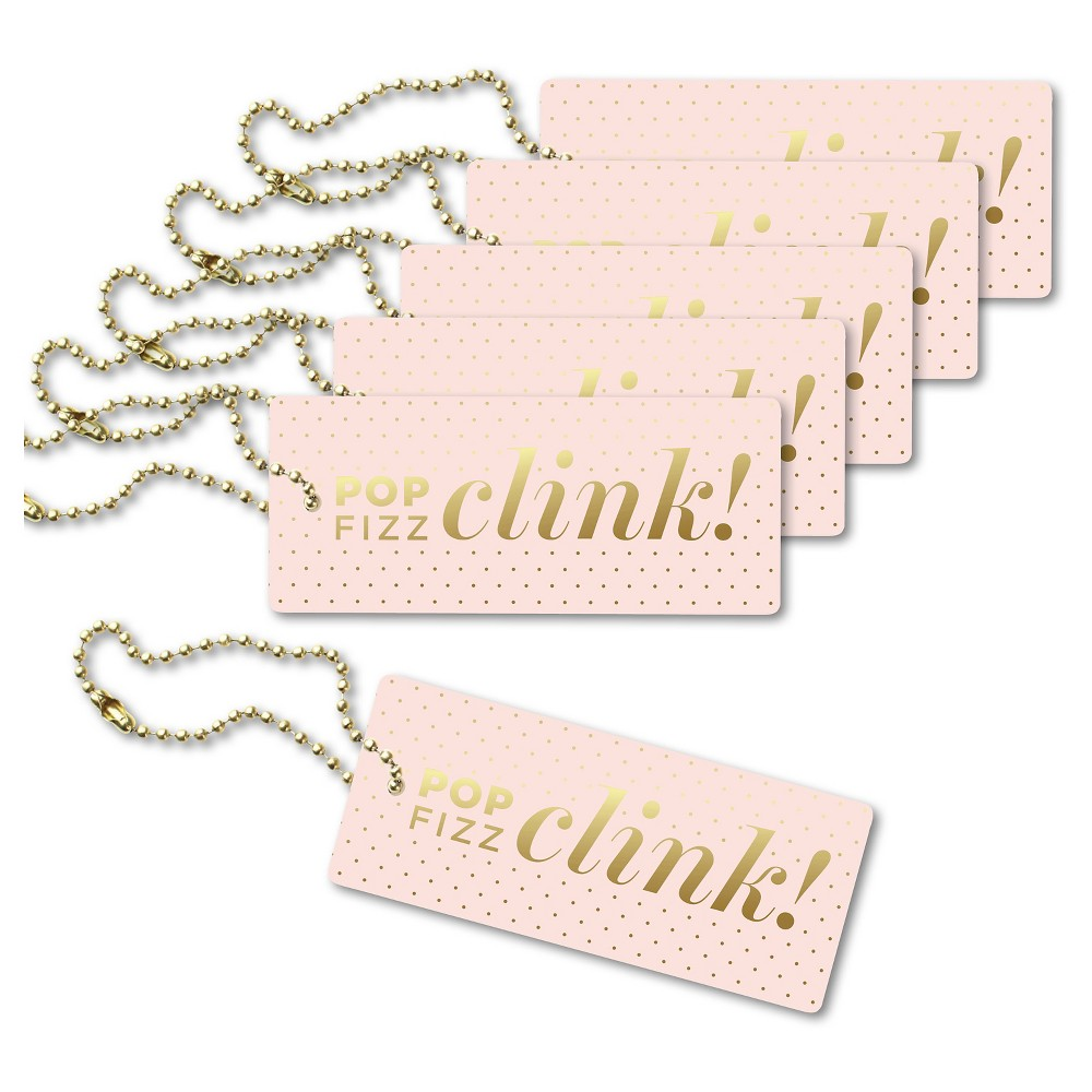 6ct Inklings Paperie Pop Fizz Clink Luxe Tags