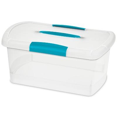 10.5qt Plastic Storage Bin with Lid - Sterilite Showoffs