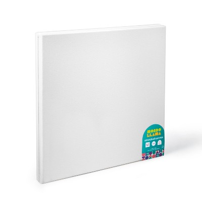 "2pk 12""x12"" Stretched Canvas White - Mondo Llama™"