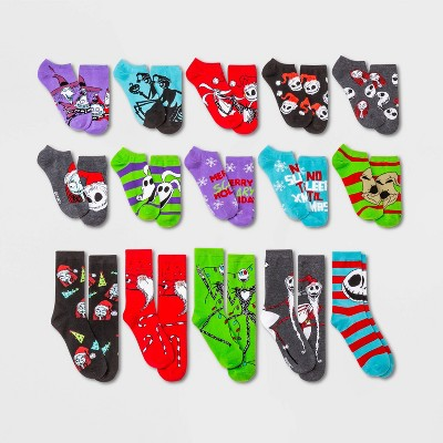 Women's Nightmare Before Christmas 15 Days of Socks Advent Calendar - Assorted Colors 4-10