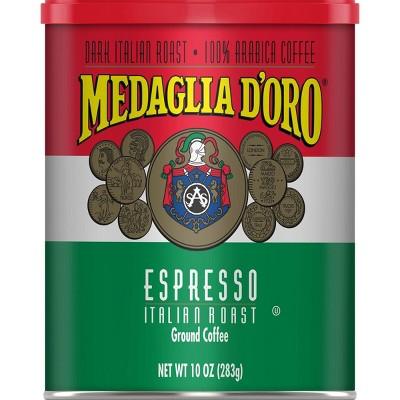 Medaglia D'Oro Espresso Dark Roast Italian Roast Ground Coffee - 10oz