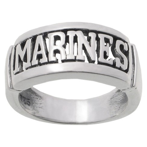 Women's Tressa Collection Sterling Silver Armed Forces 'Marines' Band - image 1 of 3