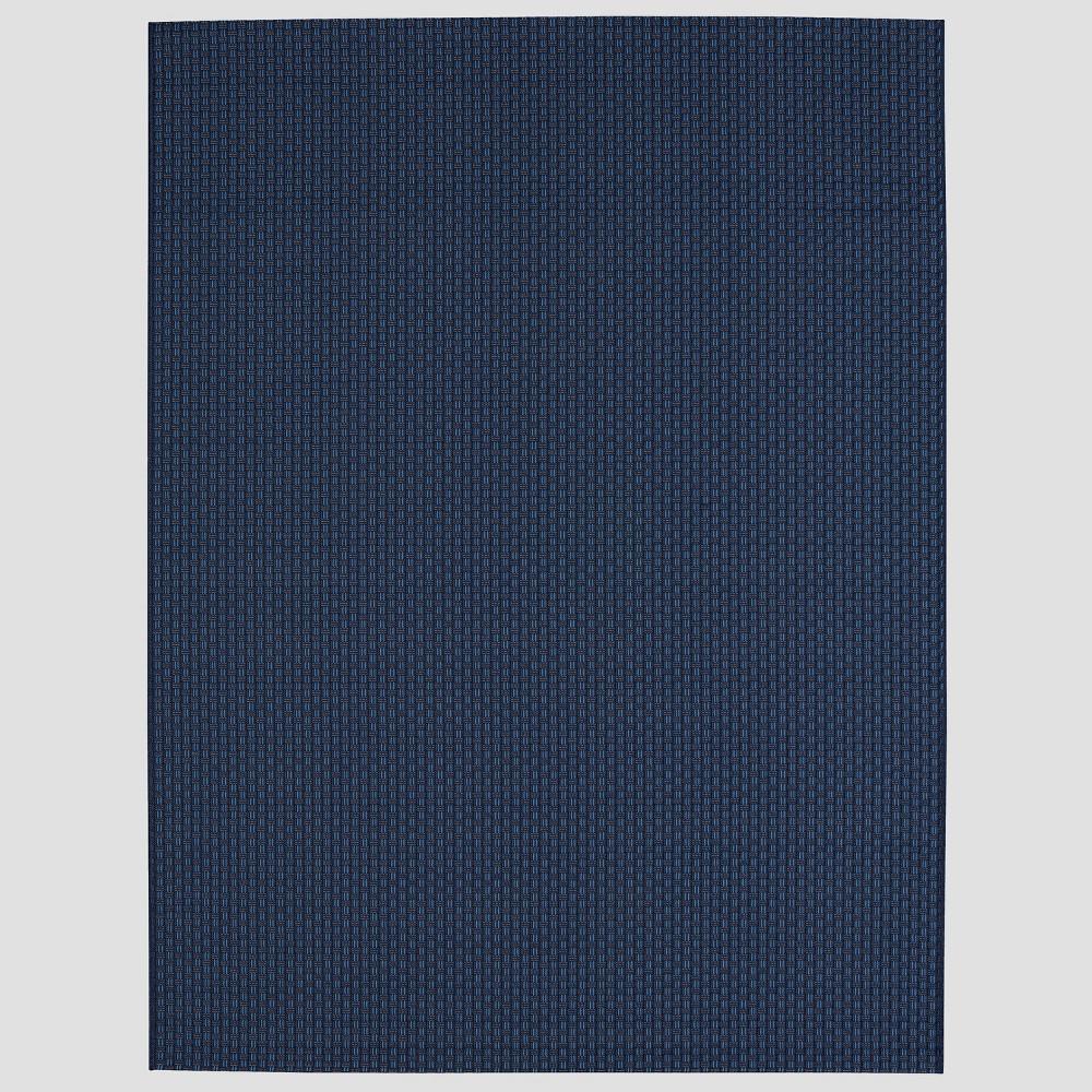 7' x 10' Basketweave Outdoor Rug Navy - Smith & Hawken, Blue