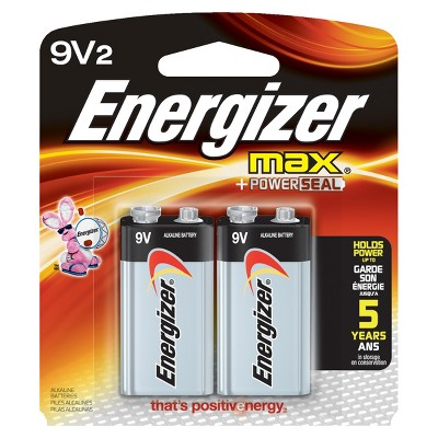 Energizer Max 9V Batteries 2 ct