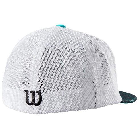 17b8f6e6a8e Wilson A2K Flexfit Baseball Softball Trucker Hat - Black White Teal - S M    Target