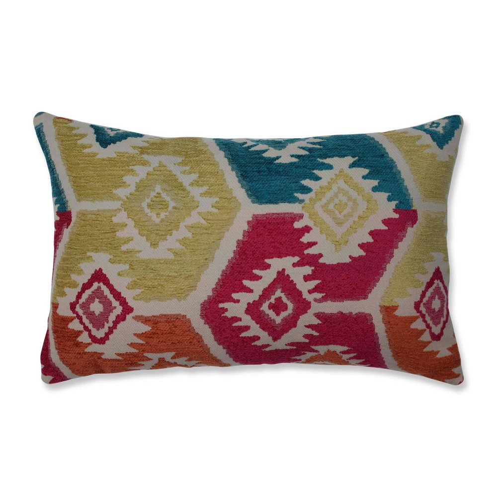 Salkentay Fiesta Lumbar Throw Pillow - Pillow Perfect, Multicolored