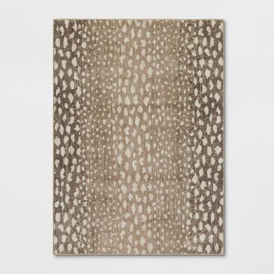 Elderberry Snakeskin Print Woven Rug