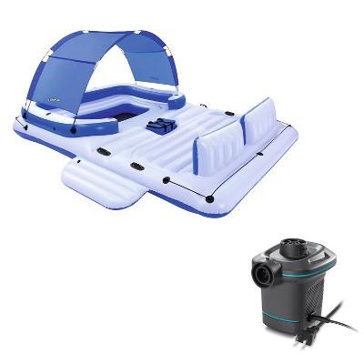 Bestway CoolerZ Tropical Breeze 6 Person Floating Raft & Electric Air Pump