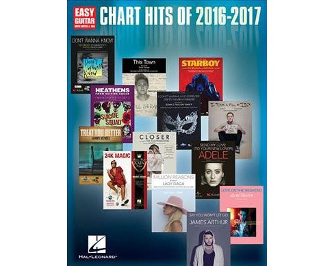 Chart Hits of 2016-2017 : Easy Guitar With Notes & Tab (Paperback) - image 1 of 1