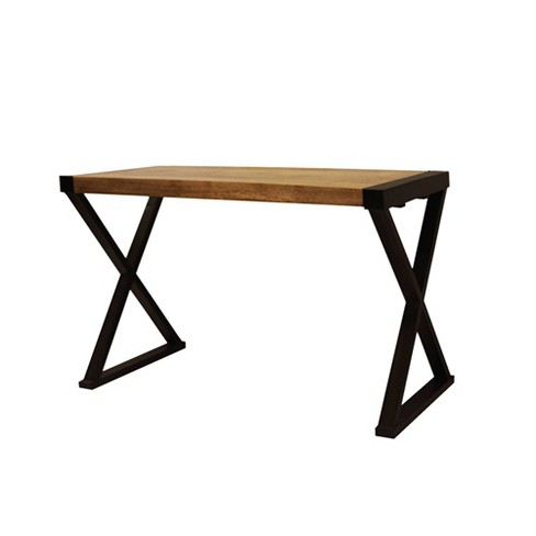 Industrial Design Console Table Coffee Brown - The Urban Port - image 1 of 4