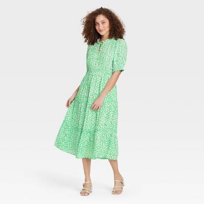 Women's Puff Elbow Sleeve Dress - Who What Wear™
