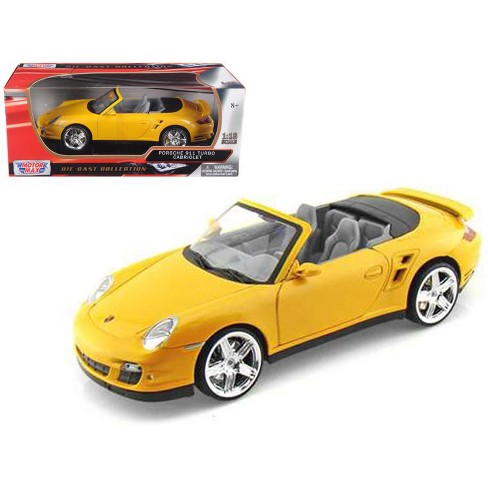 Porsche 911 (997) Turbo Convertible Yellow 1/18 Diecast Car Model by Motormax - image 1 of 1