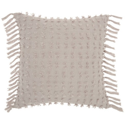 Oversize Life Styles Cut Fray Texture Throw Pillow - Mina Victory - image 1 of 4