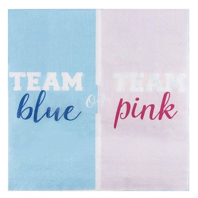 Blue Panda 150PC Luncheon Cocktail Disposable Napkins Gender Reveal Baby Shower Party Supplies, 2-Ply