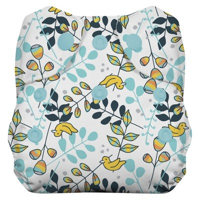 Thirsties Natural All-in-One Snap Diaper, Newborn - Birdie