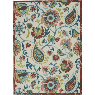 Waverly Sun N Shade SND73 Ivory Indoor/Outdoor Area Rug