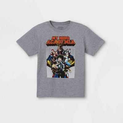 Boys' My Hero Academia Short Sleeve T-Shirt - Gray