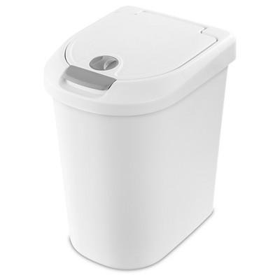 7.3gal Ultra Click Top Wastebasket White - Room Essentials™