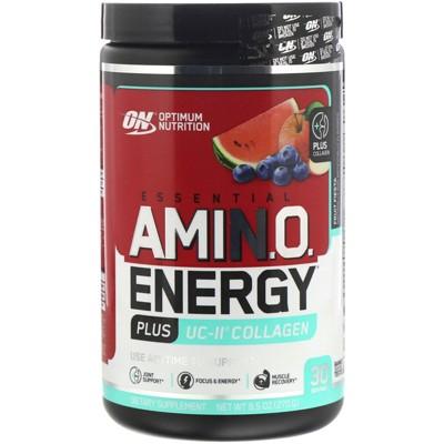 Optimum Nutrition Essential AMIN.O. Energy Plus UC-II Collagen Powder, Energy Supplements