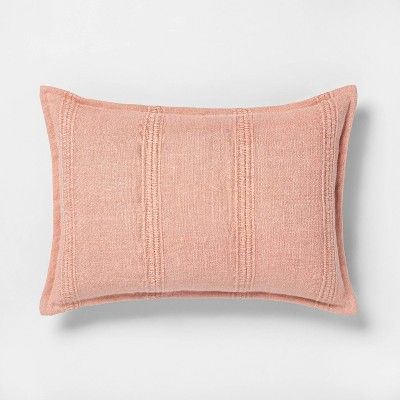 "14"" x 20"" Textured Stripe Lumbar Pillow Copper - Hearth & Hand™ with Magnolia"
