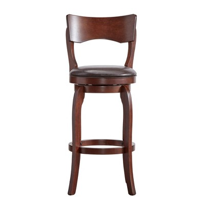 "29"" Calder Swivel Barstool Chocolate - Inspire Q"