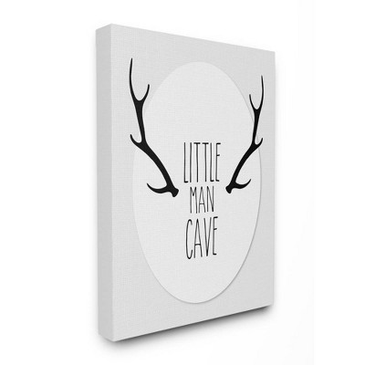 16 X1 5 X20 Little Man Cave Antlers Stretched Canvas Wall Art Stupell Industries Target