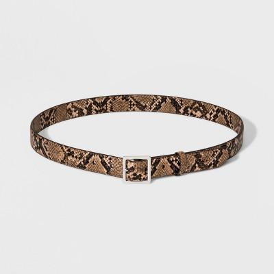 Women's Skinny Exotic Snake Belt - A New Day™ Snake