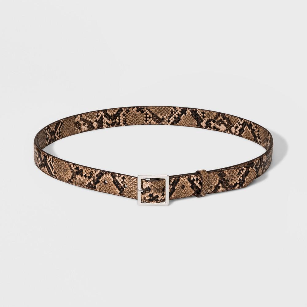 Women's Exotic Belt - A New Day Snake S, Beige