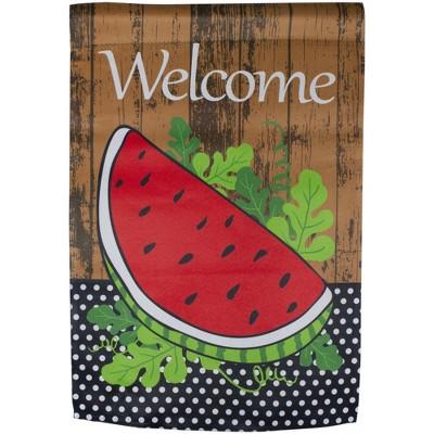 "Northlight Welcome Watermelon Slice Spring Outdoor Garden Flag 12.5"" x 18"""