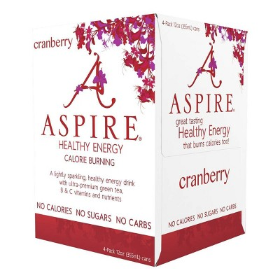 Aspire Healthy Energy Cranberry - 4pk/12 fl oz Cans