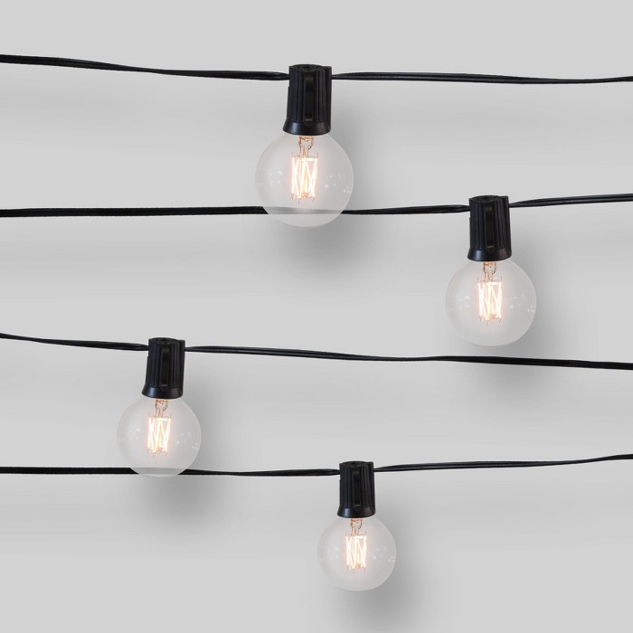 10ct Zig-Zag Filament Outdoor String Lights G50 Clear Bulbs - Opalhouse™ - image 1 of 2
