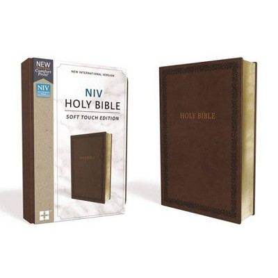 NIV, Holy Bible, Soft Touch Edition, Imitation Leather, Brown, Comfort Print - by  Zondervan (Leather Bound)