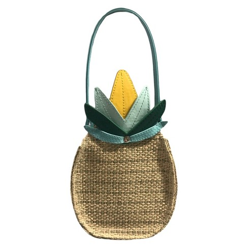 Genuine Kids® from OshKosh Toddler Girls' Pineapple Purse - Natural - image 1 of 2