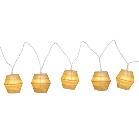 LED Paper Wood String Lights White - Room Essentials™ - image 1 of 1