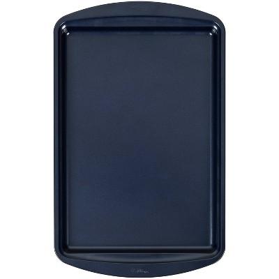 "Wilton 15.2""x10.2"" Diamond-Infused Non-Stick Medium Baking Sheet Navy Blue"
