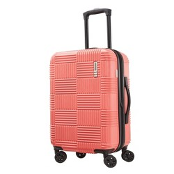 "American Tourister 20"" Checkered Carry On Hardside Suitcase"