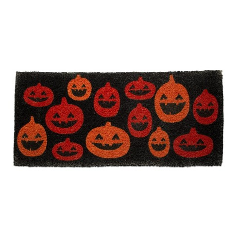 """TAG 1'6"""" x 3'3"""" Pumpkin Estate Coir Doormat Indoor Outdoor Welcome Mat - image 1 of 3"""