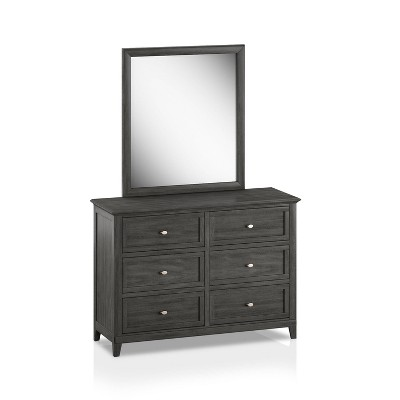 2pc Ford Transitional Dresser and Mirror Set Gray - HOMES: Inside + Out