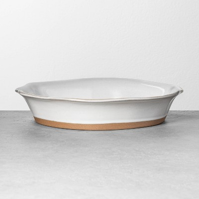 Large Glazed Pie Dish Gray - Hearth & Hand™ with Magnolia